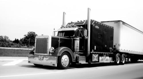 Shipping Truck BW