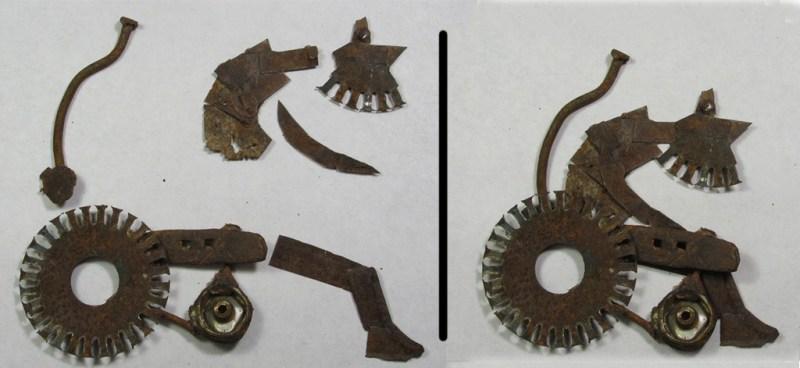 quelques morceaux de métal qui deviennent un vieil homme sur sa chaise roulante