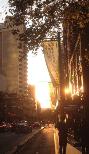 Sunset in Pitt Street