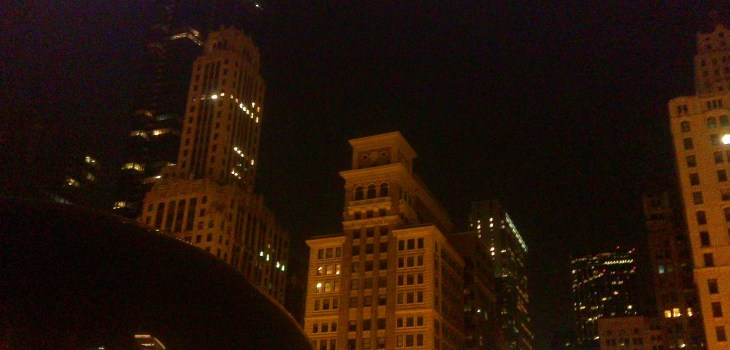 Chicago at night