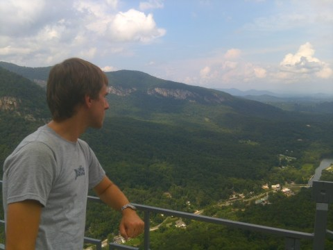 Looking out over Chimney Rock