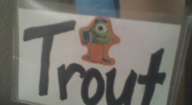 Trout Nametag for Camp Gilligan