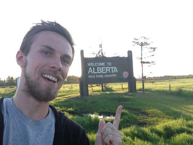 #RunningTo: ALBERTA sign