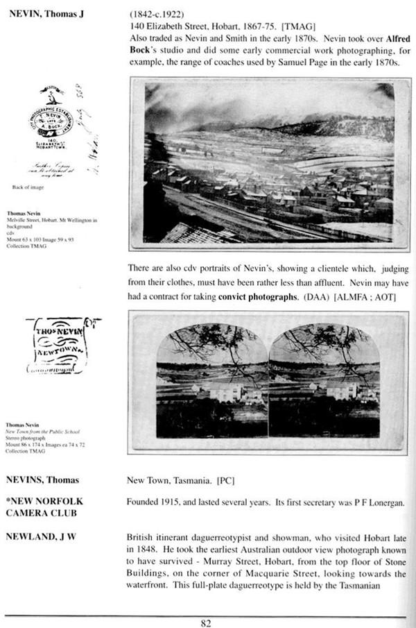 Nevin entry Tasmanian Photographers 1995