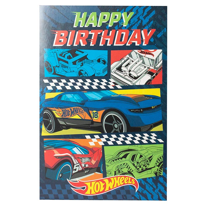 Hot Wheels Birthday Card Happy Birthday Thomas Online