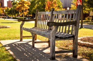 This bench is located on the South Oval of The University of Oklahoma.