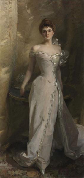 """Sargent's Portrait of Lisa Colt Curtis, 1898, 98"""" x 52"""""""