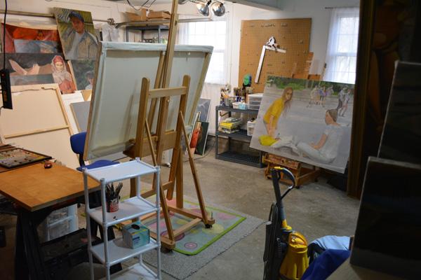 New studio, moving day
