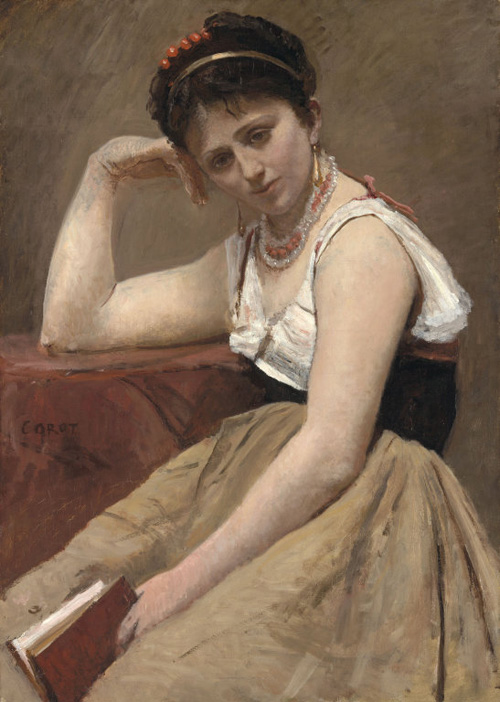 Corot's Interrupted Reading