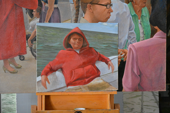 The unfinished 'Keith in Red Hoody'