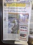 120th Anniversary Newspaper article