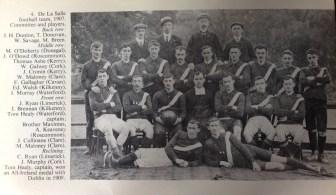 De La Salle Football Team 1907, Thomas Ashe third from left, middle row.