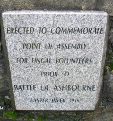 Knocksedan Bridge plaque to commemorate assembly point of The Fingal Volunteers for Easter Week 1916