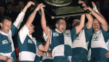 1991 : Les bordelais de Bernard Laporte (à gauche) gagnent le Brennus au Parc des Princes.
