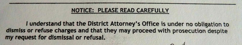 Request for dismissal form