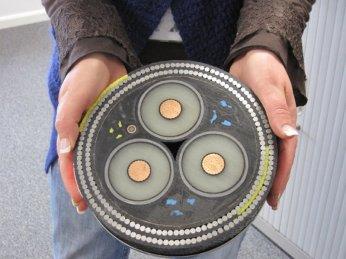 Un échantillon d'un câble sous-marin