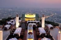 Restaurant Sirocco, Bangkok, Thaïlande (On peut le voir dans Very Bad Trip 3)