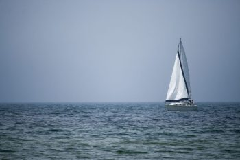 Sail Boat on Lake Michigan