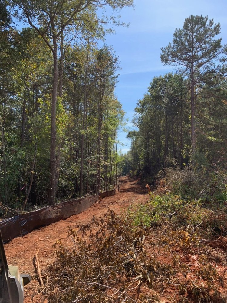 Erosion Control measures installed in Anderson, SC