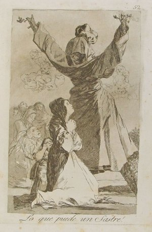 Capricho nº 52: ¡Lo que puede un sastre! de Goya, serie Los Caprichos