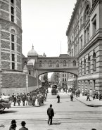 Bridge of Sighs 1905 the bridge across Bayard Street that connected the Manhattan House of Detention with the Criminal Courts Building.