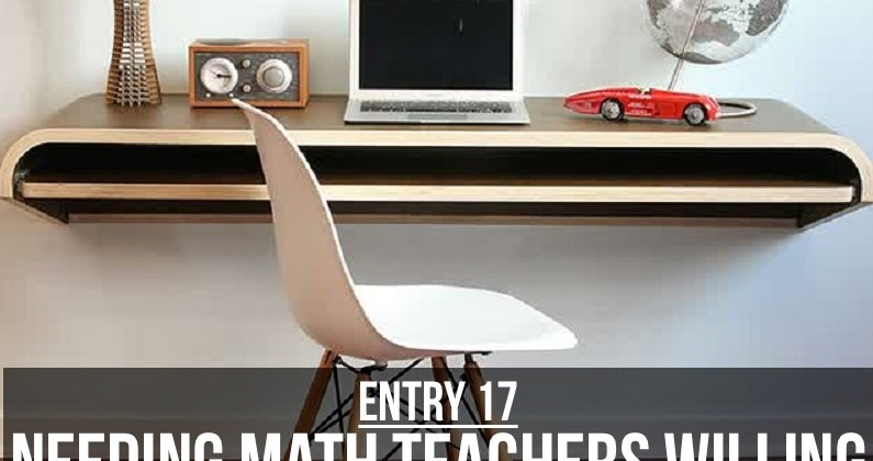 Entry 17 – Needing Math Teachers Willing To Comment on Student Blogs