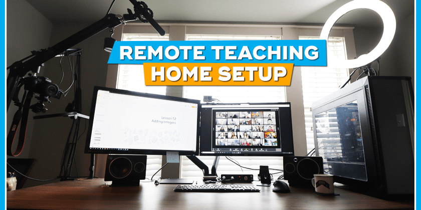 My Remote Teaching Home Setup