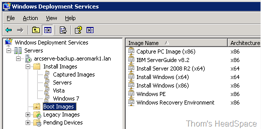 Installing Windows XP over the network using Windows Deployment Services (2/6)