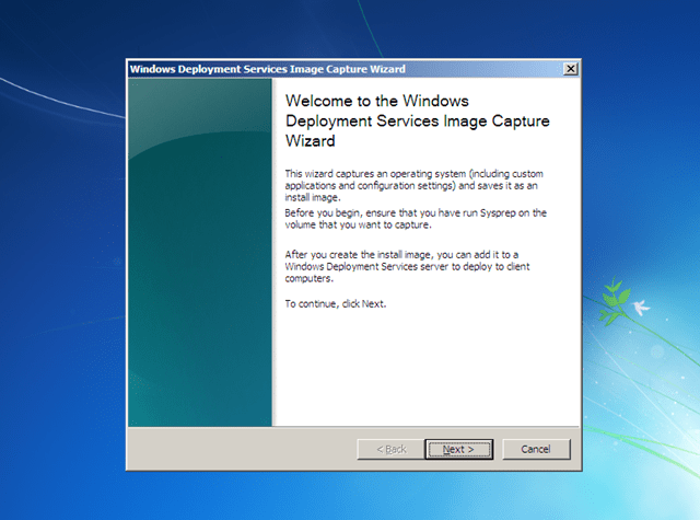 Installing Windows XP over the network using Windows Deployment Services (5/6)