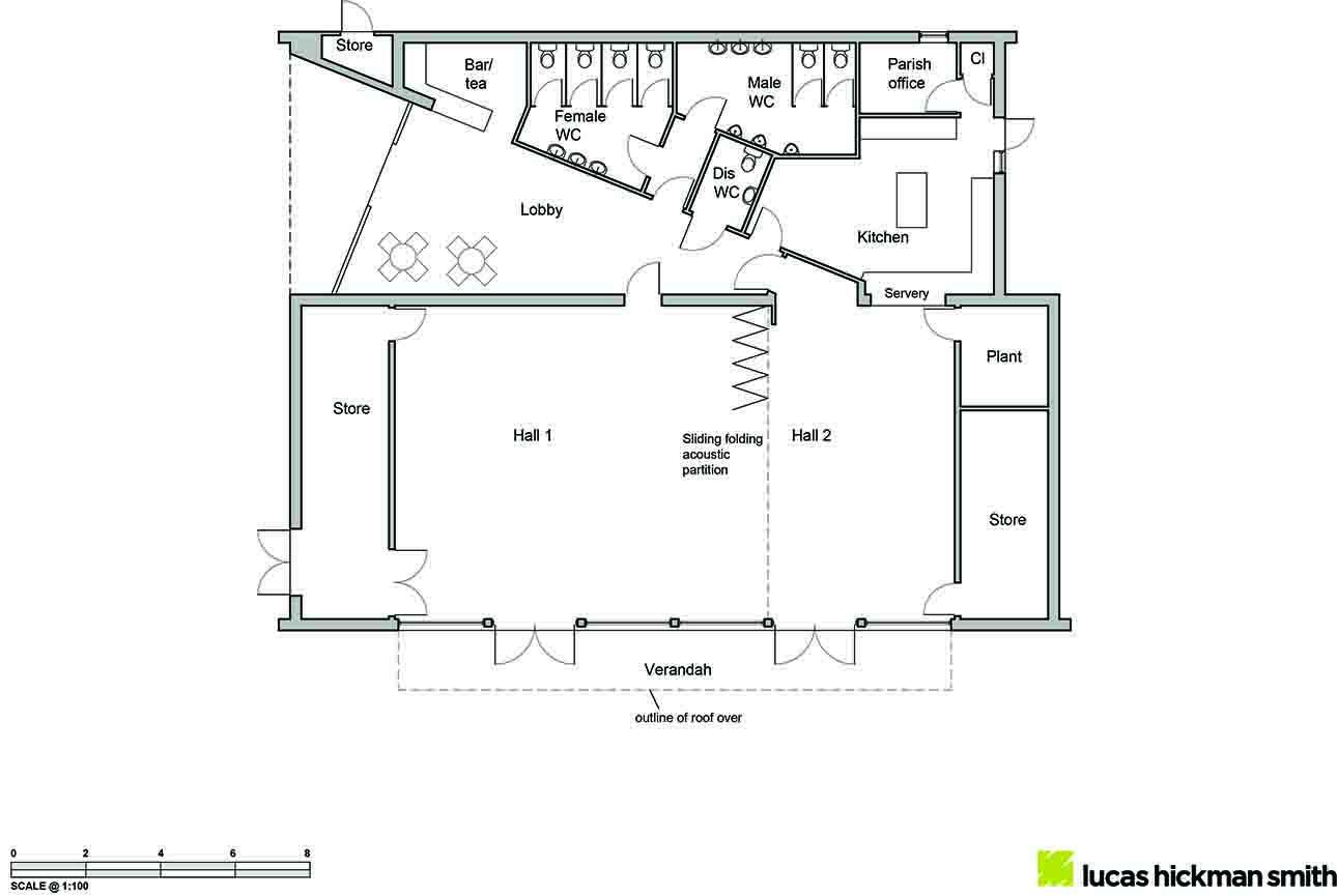 4-Floor pln-section-elev