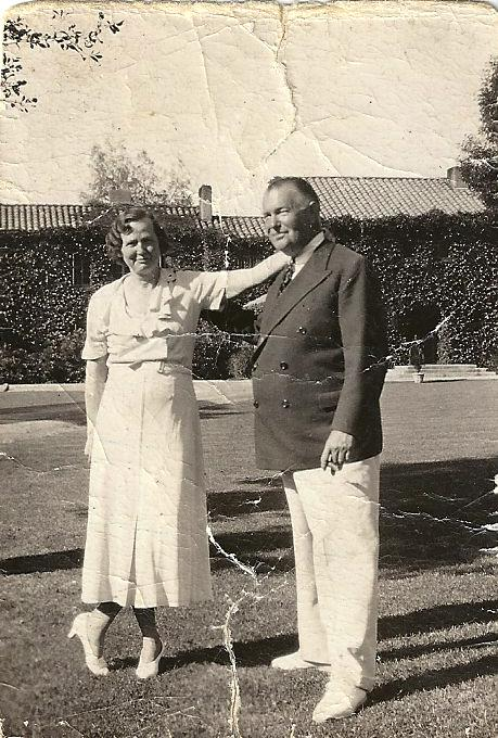 J.E. Thompson and wife Bess at Rancho Joaquina