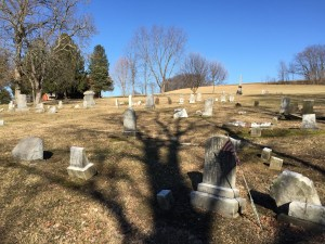 Barnett Cunningham's grave stone was nowhere to be found