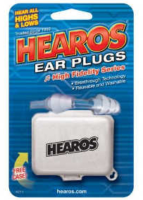 Hearos High Fidelity Ear Plugs---Designed for Musicians
