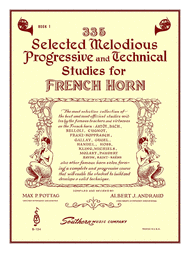 Andraud / Pottag -- 335 Selected Melodious Progressive and Technical Studies for French Horn, Book 1