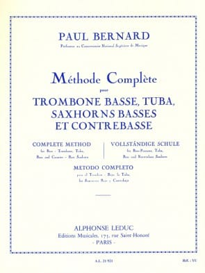 Bernard, Paul - Method for Bass Trombone