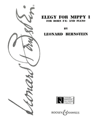 Bernstein -- Elegy for Mippy I