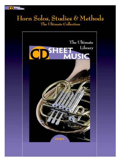 The Ulimate CD Library of Horn Solos, Studies and Methods