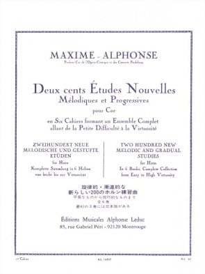 Alphonse / Maxime -- 200 New Melodic and Gradual Studies for Horn, Book 1
