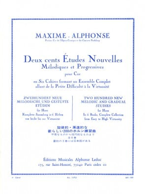 Alphonse / Maxime -- 200 New Melodic and Gradual Studies for Horn, Book 3
