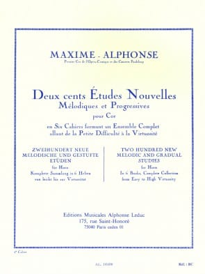 Alphonse / Maxime -- 200 New Melodic and Gradual Studies for Horn, Book 5
