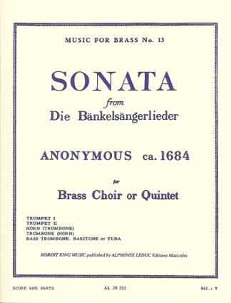 Anonymous -- Bankelsangerlieder for Brass Quintet