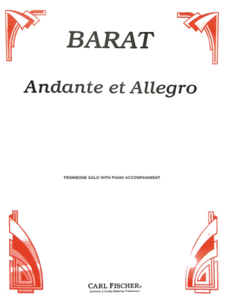 Barat, J. Ed – Andante et Allegro for Trombone and Piano