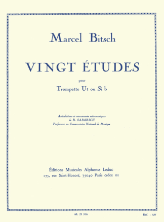 Bitsch, 20 Etudes for Trumpet