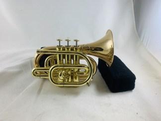 Used Carol Brass Bb Pocket Trumpet CPT-300LR SN 102066