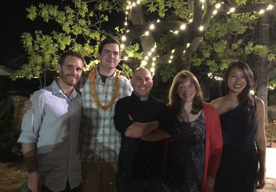 Anthony, Bob, Van, Emilie, and Caroline at the Tester Symposium Banquet.