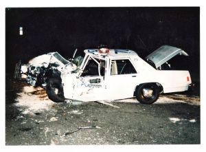 PPD traffic unit after collision
