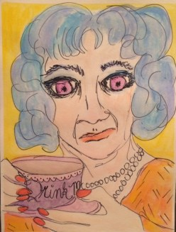 """Ladies Who Tea: Drink Me Blue"" by Nan Lehnert"