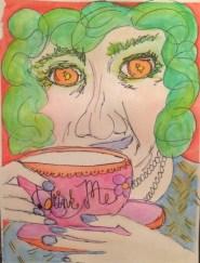 """Ladies Who Tea: Drink Me Green"" by Nan Lehnert"