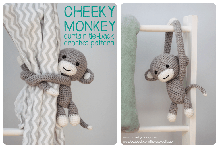 monkey curtain tie back pattern
