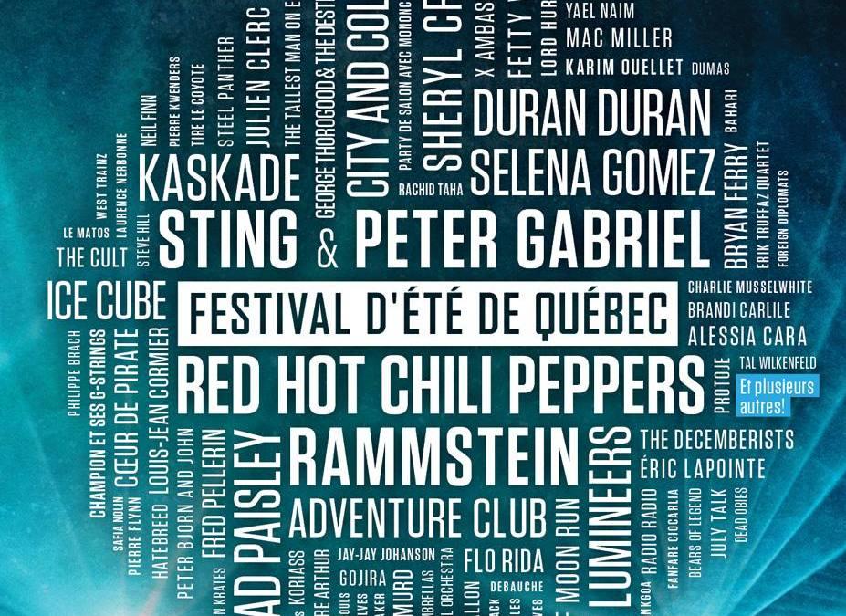 Incoming: Festival d'Été de Québec 2016